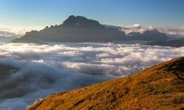 Montering Civetta, Italien dolomiti Fotografering för Bildbyråer