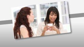 Montering die assertief commercieel team voorstellen op het werk stock video