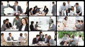 Montering die het concept commercieel team voorstellen stock videobeelden