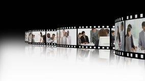 Montering die verscheidene commercieel team voorstellen stock footage