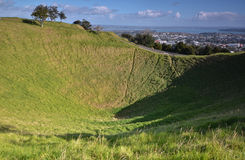 Montering Eden Mount. Oakland. Nya Zeeland. Royaltyfria Foton