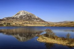 Montering Errigal, Co Donegal Irland Royaltyfri Bild