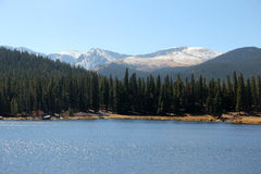 Montering Evans Scenic Byway, Denver Mountains Royaltyfri Fotografi