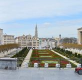 Montering för Kunstberg eller Mont des-konster av konsterna i Brussel, Belgien arkivbilder