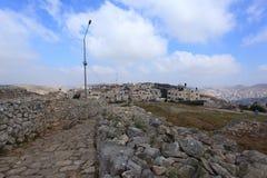 Montering Gerizim, helig plats för barnsamarit, Nablus Fotografering för Bildbyråer