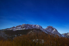 Montering Giewont i Tatra berg Arkivbild
