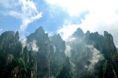 Montering Huangshan Xihai Grand Canyon, oerhört porslin arkivfoton