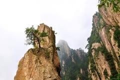 Montering Huangshan Xihai Grand Canyon, oerhört porslin arkivbilder