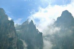 Montering Huangshan Xihai Grand Canyon, oerhört porslin Fotografering för Bildbyråer