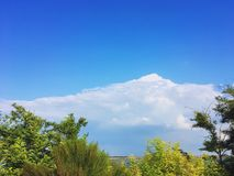 Montering i himmel Arkivbild
