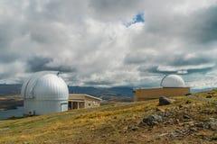 Montering John University Observatory, södra ö Nya Zeeland royaltyfri bild