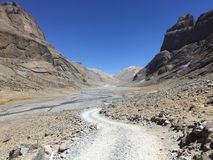 Montering Kailash Kora i vår i Tibet i Kina fotografering för bildbyråer