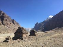 Montering Kailash Kora i vår i Tibet i Kina Royaltyfria Foton