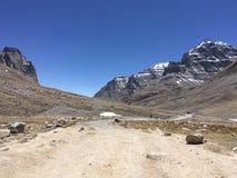 Montering Kailash Kora i vår i Tibet i Kina arkivbild