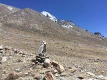 Montering Kailash Kora i vår i Tibet i Kina Arkivbilder