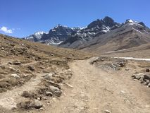 Montering Kailash Kora i vår i Tibet i Kina arkivfoton
