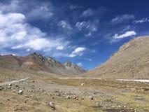 Montering Kailash Kora i vår i Tibet i Kina royaltyfria bilder