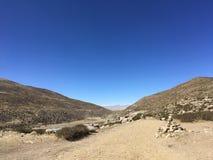 Montering Kailash Kora i vår i Tibet i Kina Royaltyfri Fotografi