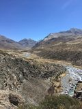 Montering Kailash Kora i vår i Tibet i Kina Arkivfoto