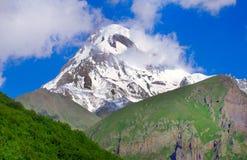 Montering Kazbek Royaltyfri Fotografi