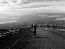 Montering Kinabalu Arkivfoto