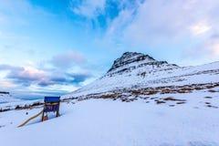 Montering Kirkjufell, Island fotografering för bildbyråer