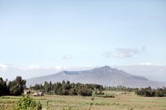 Montering Longonot, en vulkan Royaltyfri Bild