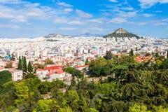 Montering Lycabettus i Athens Royaltyfria Bilder