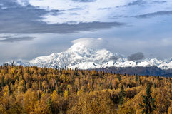 Montering McKinley i Alaska Arkivbilder