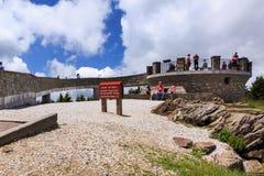 Montering Mitchell North Carolina för observationsdäck royaltyfri foto