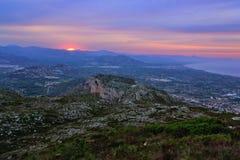 Montering Montgo på solnedgången Royaltyfri Fotografi