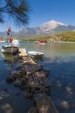 Montering Olympos, Antalya, Turkiet Arkivbilder