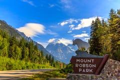 Montering Robson Park Royaltyfri Fotografi