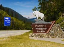 Montering Robson Park, Kanada Arkivbilder