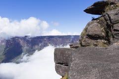 Montering Roraima och Kukenan Tepui arkivfoton