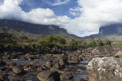 Montering Roraima och Kukenan Tepui royaltyfri foto