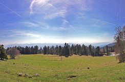 Montering Sâla, Jura Mountains, Schweiz Arkivbilder