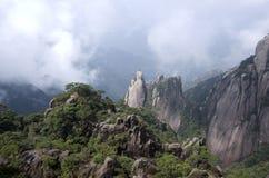 Montering Sanqing, Sanqingshan, Jiangxi Kina Fotografering för Bildbyråer