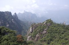 Montering Sanqing, Sanqingshan, Jiangxi Kina Arkivbild