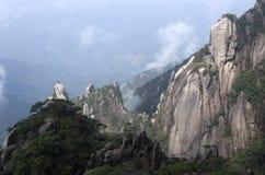 Montering Sanqing, Sanqingshan, Jiangxi Kina Arkivfoton