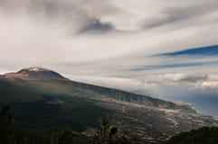 Montering Teide på Tenerife Arkivfoto