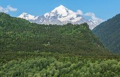 Montering Tetnuldi i Georgia Fotografering för Bildbyråer