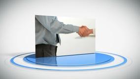 Montering van bedrijfsgroepswerk stock videobeelden