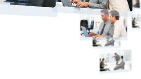 Montering van bedrijfsmensen stock video