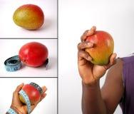 Montering van het op dieet zijn concepten - Mango's royalty-vrije stock foto's