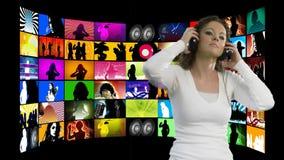 Montering van mensendisco Dansende 2 stock illustratie