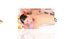 Montering van vrouwen die massage hebben stock footage