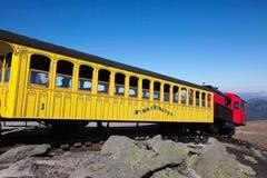 Montering Washington Cog Railroad royaltyfri bild