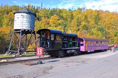 Montering Washington Cog Railroad, New Hampshire Arkivbilder