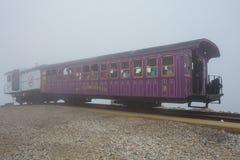 Montering Washington Cog Railway Arkivfoto